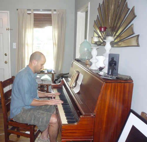 Colin playing the piano