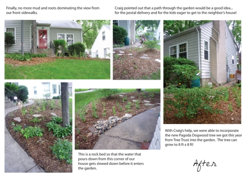 Raingarden after photos