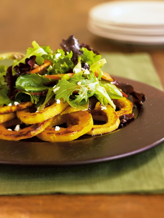 Squash Ring Arugula Salad