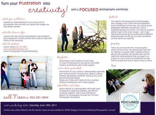 Focused Photography Flyer