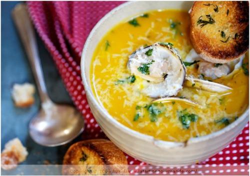 Squash coconut milk soup