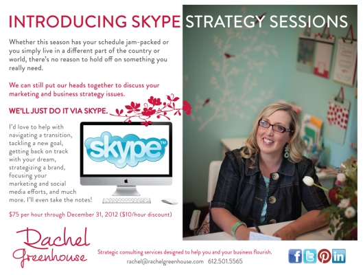 Skype Strategy sessions
