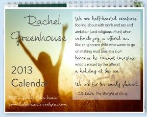 RG Calendar cover