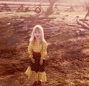 Rachel on the farm