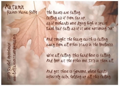 Autumn poem by Rainer Marie Rilke